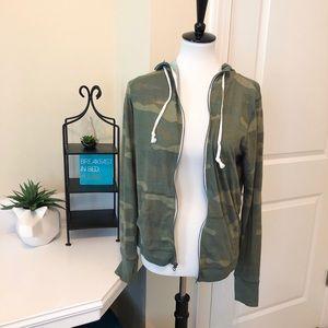 Camo zip-up hoodie